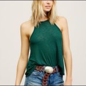 Free People Long Beach Intimately Tank Green
